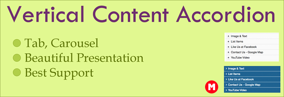 Vertical Content Accordion