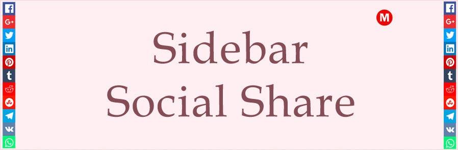 Sidebar Social Share
